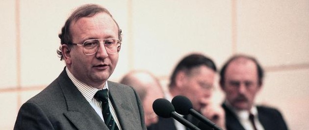 Willy Wimmer in 1990 at the Bundesrates in Bonn