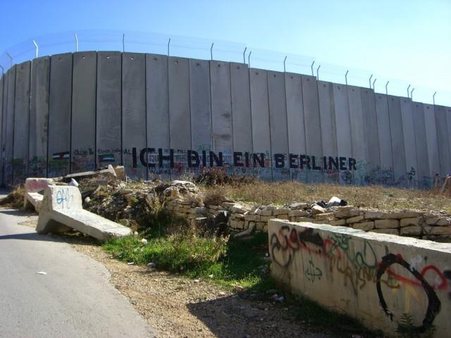 Separation Barrier being built by Israelis in Jerusalem 2007