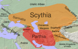 The Scythian area covers Ukraine and Eastern Russia