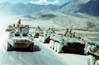Soviet troops leaving Afghanistan, 1988