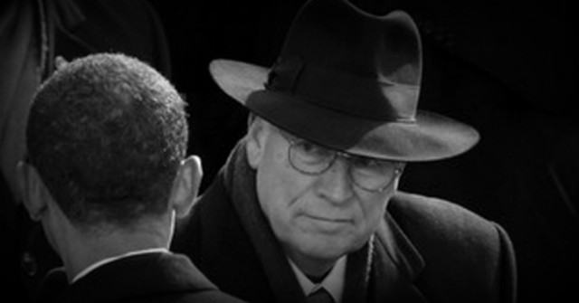President Obama catches the eye of former Vice President Dick Cheney at Obama's 2008 inauguration. (photo: Flickr)
