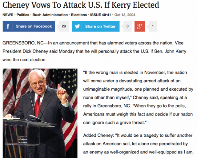 Cheney's repeated threats to nuke the US are getting less and less funny