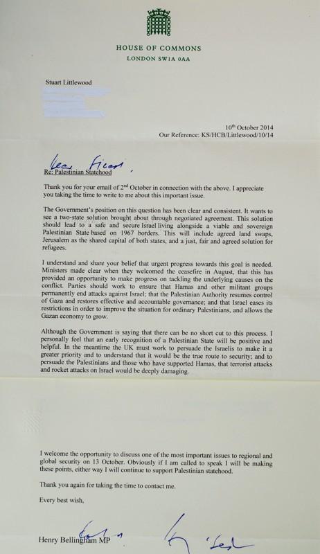 Bellingham letter PalRecognition