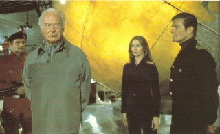 Curt Jurgens in the Spy Who Loved Me -- with Barbara Bach and Roger Moore