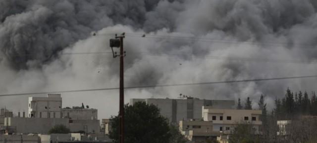 Sunday air strikes on Kobani