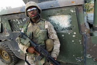 US military soldiers on