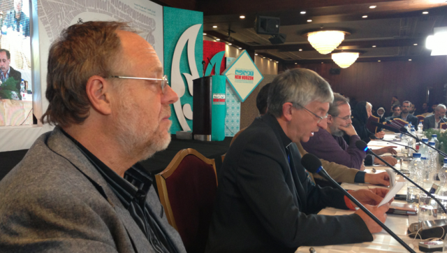 Dr. Kevin Barrett in the Foreground and the Church of England's Rev. Stephen Sizer Behind Him.