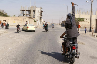 ISIS supporter rides through town
