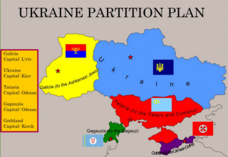 Ukraine Partition map - a spoof, or is it?