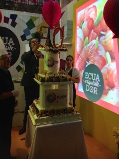 Chef with Cake he Created for SIAL
