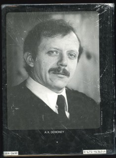 A.K. Dewdney, one of Canada's leading environmental scientists
