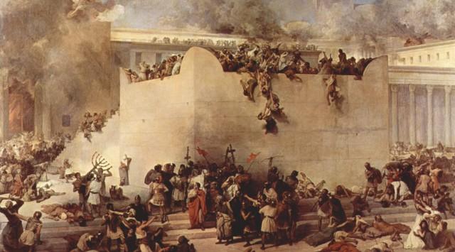 The fall of the Temple - Francesco Hayez