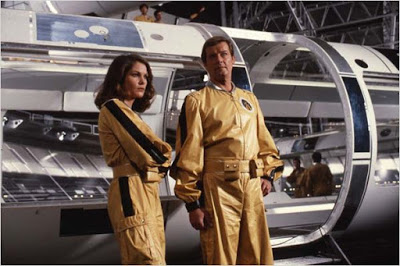 Lois Chiles as Holly Goodhead with Roger Moore as Bond