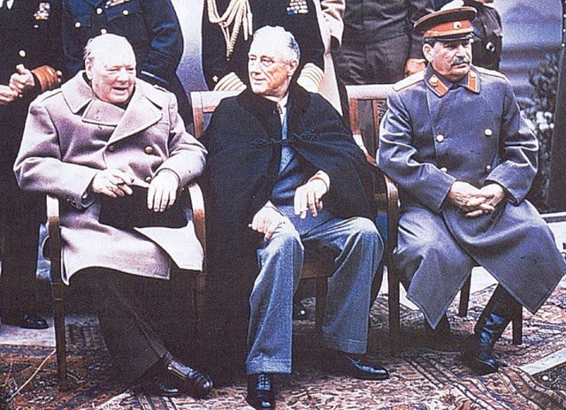 CHURCHILL, ROOSEVELT, STALIN: THE THREE STOOGES