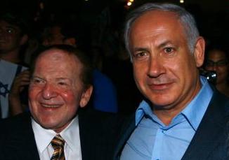 Casino Mogul Sheldon Adelson and Isreali Prime Minister Bejamin Netanyahu