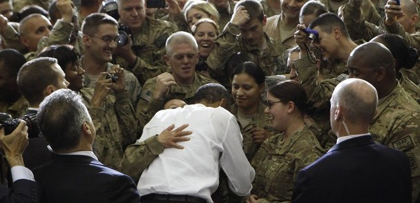 Obama visiting Bagram Air Base in Kabul, 2012