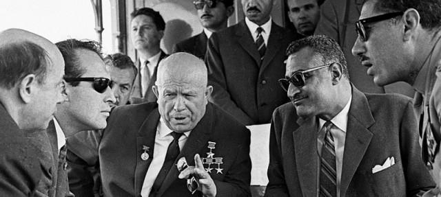 Nikita Khrushchev and Gamal Nasser, 1964