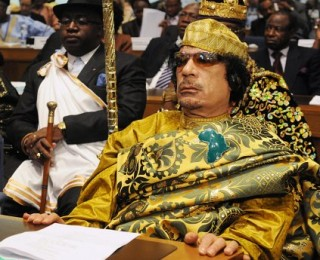 Gaddafi was just a bit overboard in the wardrobe department