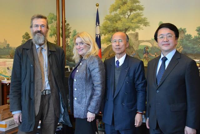 Mark, Jane, Ambassador Lu and Chi-tao Wen First Secretary to Ambassador Lu
