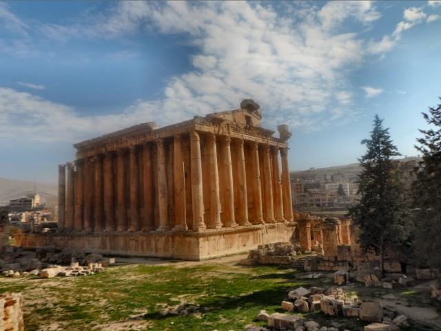 Temple of Bacchus, Baalbek, Bekaa, Lebanon
