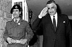 Gaddafi as a young officer with Nasser