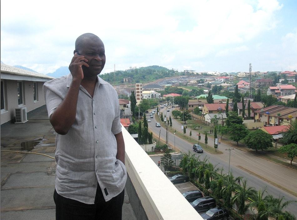 VT's Harry Erivona (Taken on the penthouse terrace of the Protea Hotel, Abuja by Gordon Duff