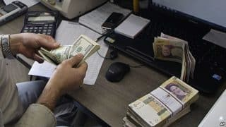 Money changers have a booming business during sanctions under the radar