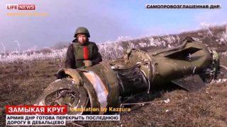 Tochka ballistic missile...one of three used on just one village
