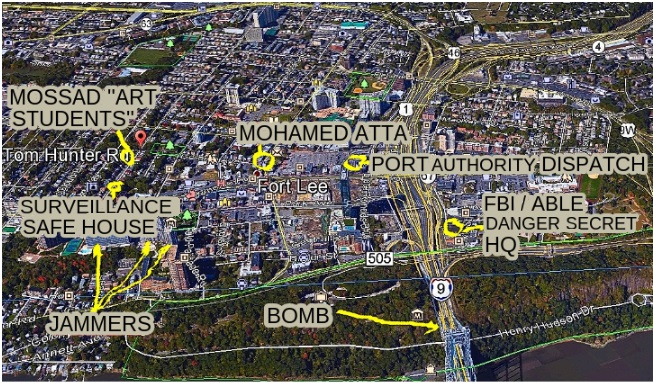 Location of  friends, Mohammed Atta and the dancing Israelis