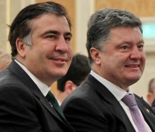 Misha Saakashvili (L) and Porky...two birds of a feather