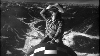 Slim Pickens in Dr. Strangelove, the movie