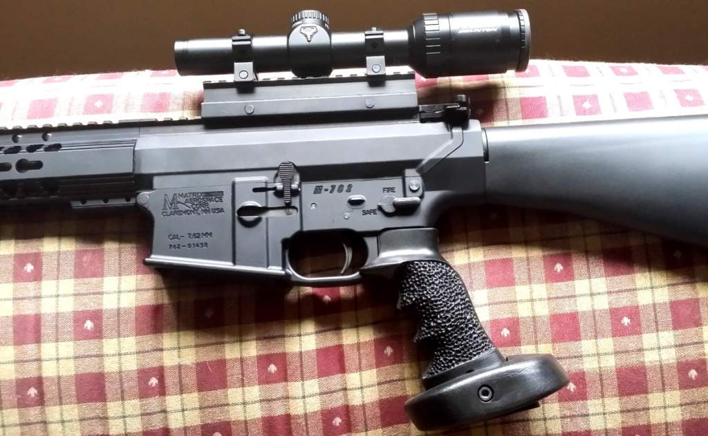 With sniper grip