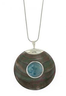 Blue  Stone round necklace
