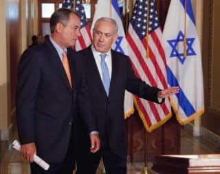 Netanyahu works the American Knesset