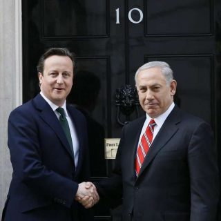 Cameron greets Netanyahu