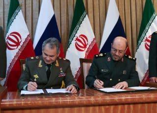 Russia's Sergei Shoigu and Iran's Hossein Dehghan