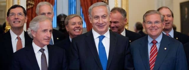 """Bibi with two of his top agents in Congress, what we call """"front door"""" espionage"""