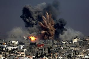 Gaza airstrikes (file photo)