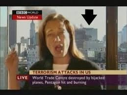 BBC News announced that Bldg. 7 had fallen 15 minutes before it fell.  It is still standing as the announcement was made.