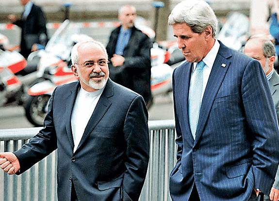 US Secretary of State John Kerry with His Iranian Counterpart, Mohammad Javad Zarif.