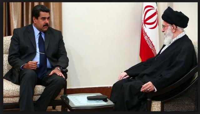 Iranian Supreme Leader Ayatollah Ali Khameini With Venezuelan President, Nicolas Maduro
