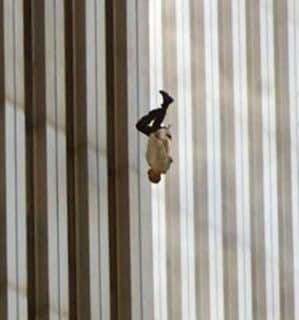 American was psushed off the roof on 9-1...by American traitors