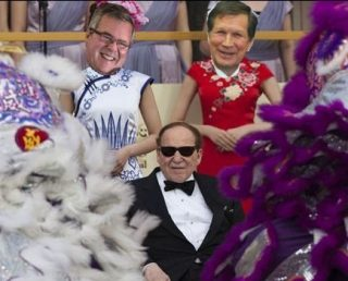 Adelson, Kasich and Bush -- all three men are owned and operated by the Khazarian Mafia