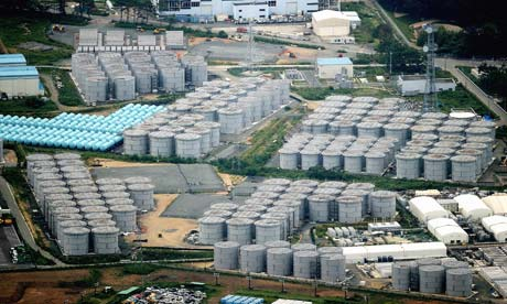 Rad contaminated water in leaking tanks creates contaminated marsh in Japan.