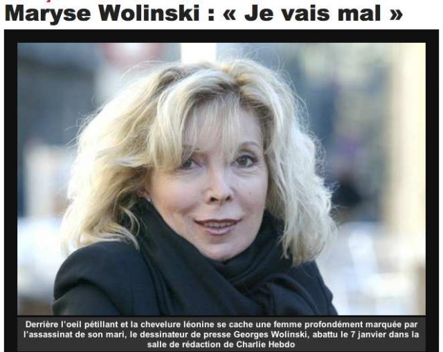 A seemingly innocuous mainstream article revealed Maryse Wolinski's doubts about the official account of Charlie Hebdo