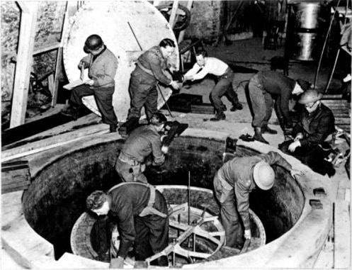 German nuclear pile, 1945 (near Stuttgart)