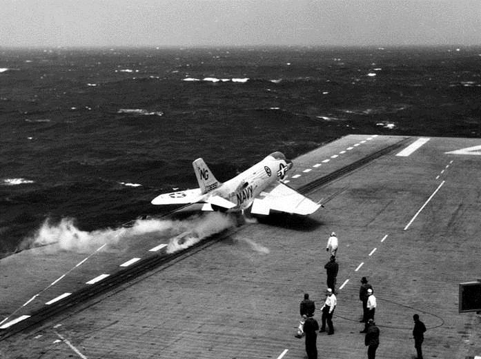 F3H Demon being launched on South China Sea