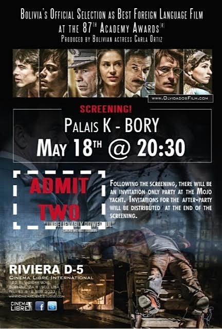 Los Olvidados screening and invitation to party on yacht