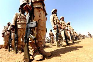 KSA troops