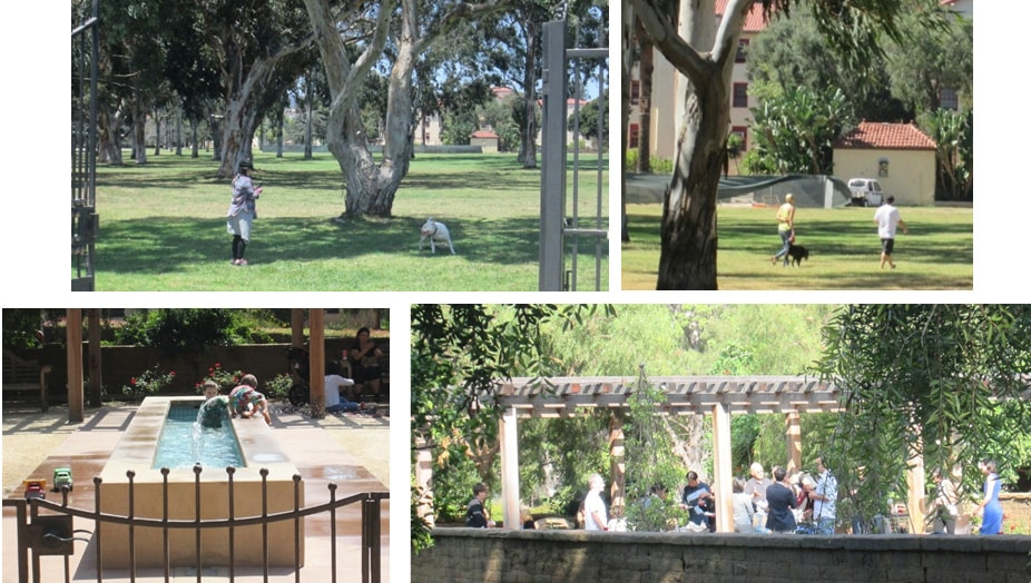 Mrs. Barrie's private opening of the VA front gates has turned these sacred grounds into a public dog park, children's playground and a gathering place for private parties.